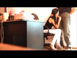 Hot-italian-secretary-cum-off-her-boss