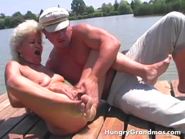 Hot-Granny-In-Bikini-Massages-A-Lonely-Navigator