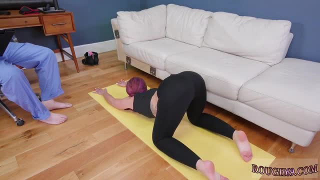 Brutal old young anal Ass Slave Yoga