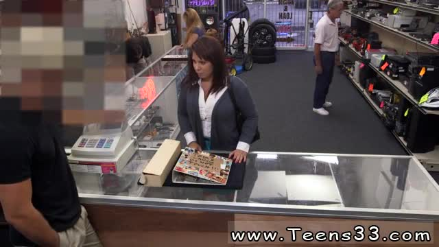 Girl-using-dildo-in-public-MILF-sells-her-husband-s-stuff-for-ba