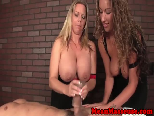 Busty-femdom-masseuse-duos-dick-slapping-fun