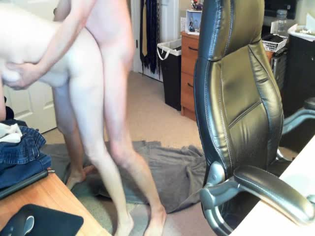 Fucking-my-wife-over-my-desk-on-hidden-cam