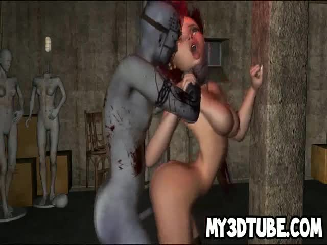 3D-cartoon-redhead-babe-gets-fucked-by-a-zombie
