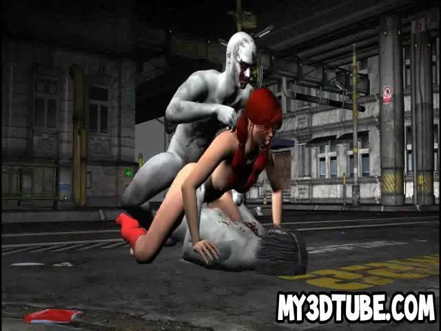 3D-redhead-getting-double-penetration-from-zombies