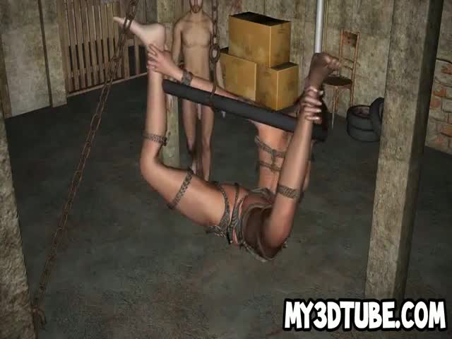Bound-and-hanging-3D-cartoon-babe-getting-fucked