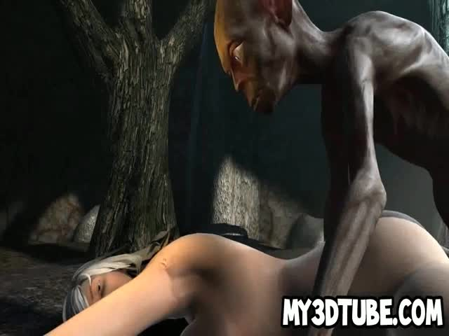 3D-cartoon-babe-gets-fucked-in-the-woods-by-Gollum