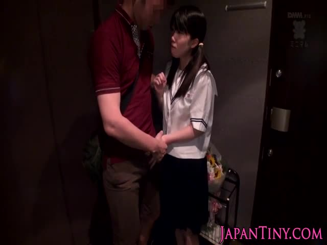 Petite-Japanese-with-pigtails-girl-legs-and-ass-crack-fucked