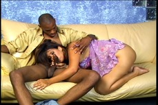 Latina brunette slut get her asshole drilled by a black guy