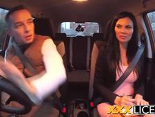 Jasmine Jae Double Creampied During Driving Exam