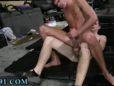 Photo of boy doing gay things at party and dark eats brothers cum This