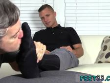 Strange gay sex play Tommy Makes Tenant Worship His Feet