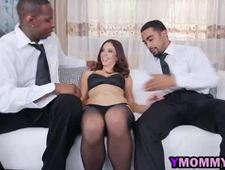 Gorgeous MILF Eva Long Fucked By Two Fat Black Dicks
