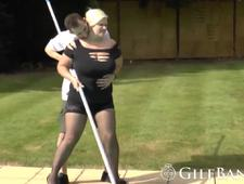 Glorious blonde GILF is putting in some hard work into her cunt
