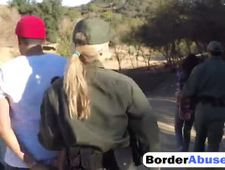 Lucky guy fucks two amazing teens at the border