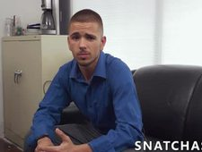 Smoking hot dudes anally bang each other in their office