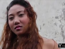 Curvy Asian vixen Chealsy gets pussy porked by stranger