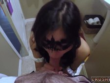 Mom and playmate s daughter strap on anal Swalloween Fun