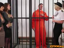 CFNM milf lawyer tastes prisoners warm jizz