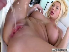 Big tits Summer enjoys hardcore sex after taking a bath