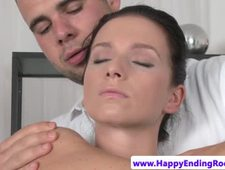 Massage babe cockriding her sensual masseur