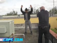Big round ass female cops are taking advantage of a horny black dude