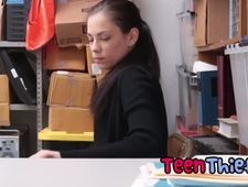 Shoplifter gets busted and needs to repay her debt