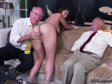Lolly gets fucked by old nick and old man cums in young pussy Soon after