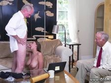 Mature old maid and dirty old man babe Ivy impresses with her ample