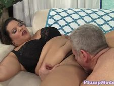 Busty plussize babe cockriding with passion