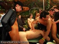 Group sex in gay porno cinema tube xxx gangsta soiree is in total gear now