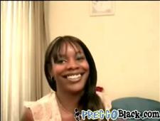 A slutty pregnant black chick gets her pussy drilled in her first sex video
