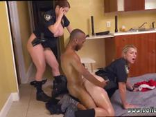 Milf foot job Black Male squatting in home gets our milf officers