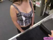 Horny milf Sophie bends over to get a tight pussy fuck