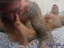 Legs up bareback gay Caleb Gets A Surprise Foot Job