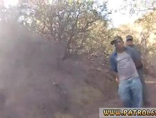 Fake cop cumshot compilation and police tape gagged Mexican border patrol