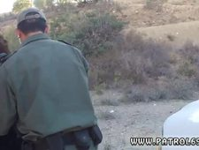 Police lesbian anal Brunette gets pulled over for a cavity search and