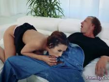 crony s daughter seduces dad over and surprises sleeping Fathers Day