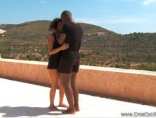 Ebony Lovers From Africa Fuck Outdoors
