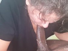 White granny takes BBC and creampie