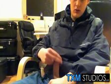A video by txmstudios: Tyler squirting a load in front of the camera in the office | uploaded 4 days, 16 hours ago