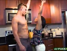 Cute teen stepsis drilled by her stepbro