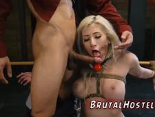 Bondage session chinese and rough blonde Big breasted blonde hottie